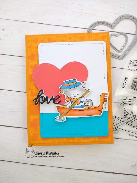 Love by Diane features Newton Dreams of Italy, Darling Hearts, Tumbling Hearts, and Frames & Flags by Newton's Nook Designs; #newtonsnook