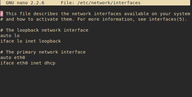 interfaces linux