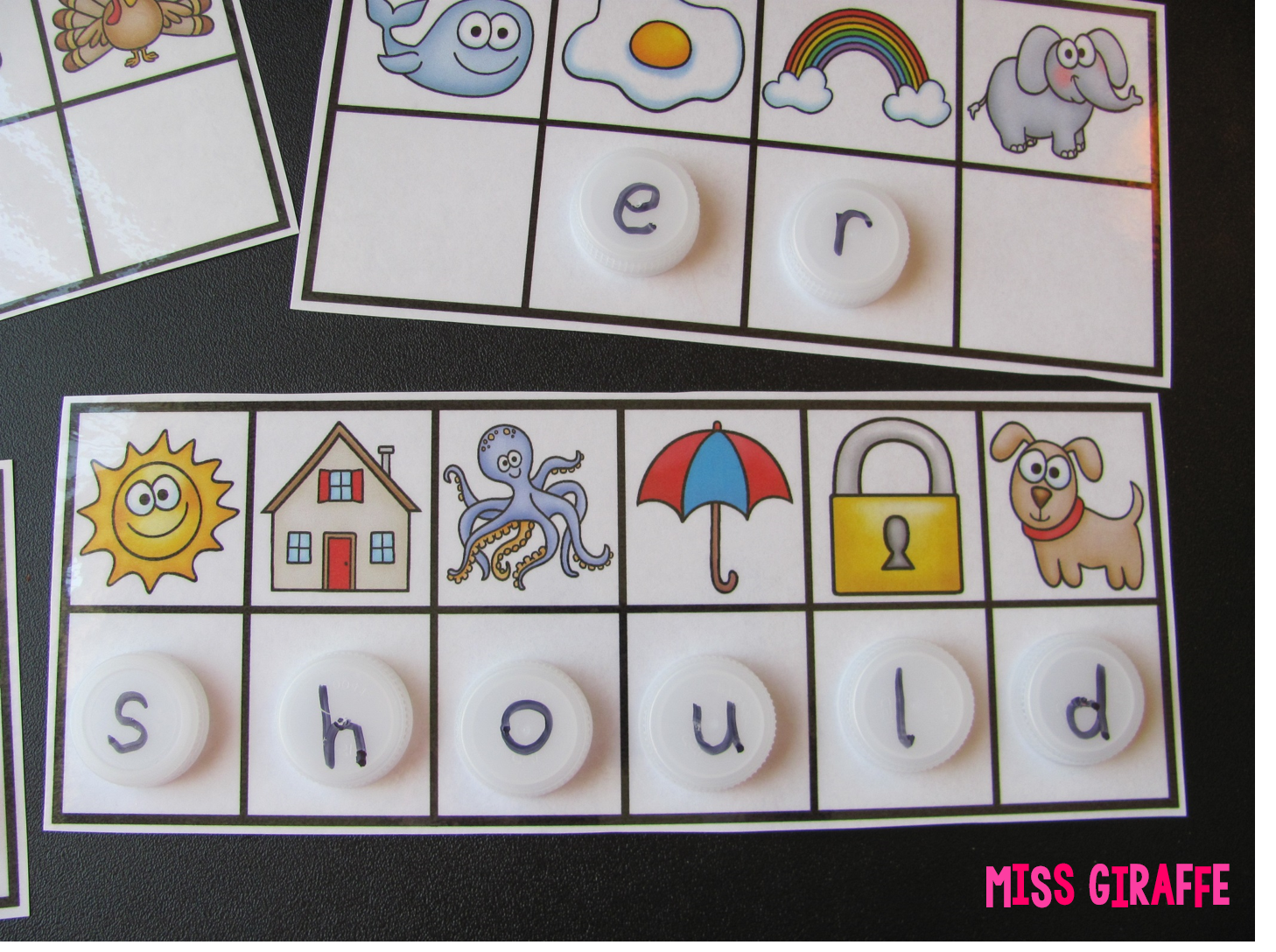 Sight words fun - kids figure out the beginning sounds of each picture to figure out the secret sight word