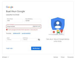 Isi Form pada Gmail
