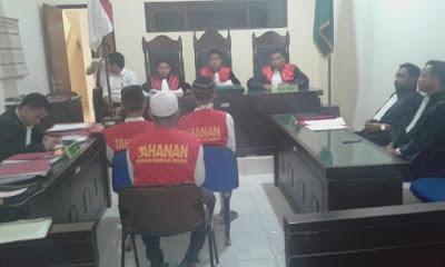 Eksepsi  Terdakwa Kasus Curas Meminta Majelis Hakim PN Sukabumi Untuk Membebaskan Dari Semua Tuduhan Jaksa