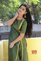 Akshitha cute beauty in Green Salwar at Satya Gang Movie Audio Success meet ~  Exclusive Galleries 009.jpg