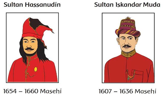 kunci jawaban halaman 59 tema5 kelas 4 sultan hasanudin dan iskandar muda