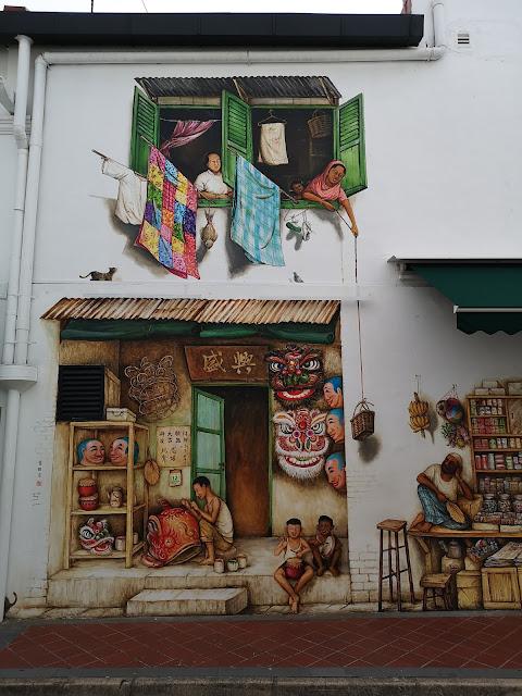 Chinatown mural - Lion Dance Head Maker Shop