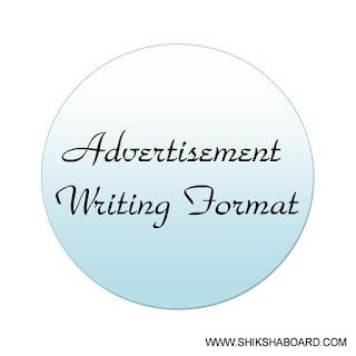 Advertisement Writing Format