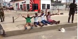 Lol. Lockdown Violators Singing the Coronavirus Song' after been arrested in Rivers State. (Video)