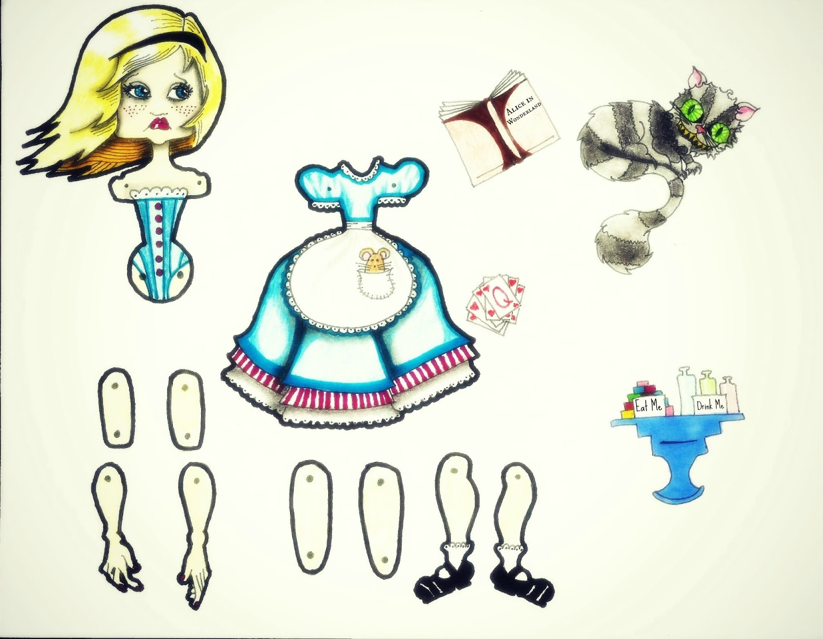 fairytale factor diy articulated fairytale paper dolls