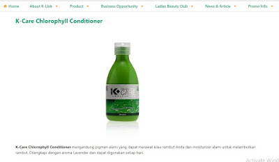 Produk K-Link K-Care Chlorophyll Conditioner