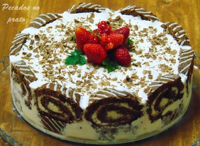Semifrio de torta de chocolate Dancake