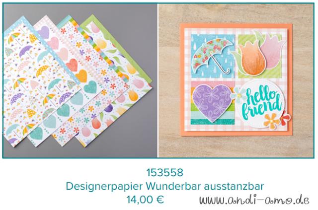 Stampin Up Designerpapier Wunderbar ausstanzbar