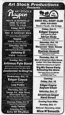 Art Stock's Playpen Lounge & Birch Hill Night Club band line up's