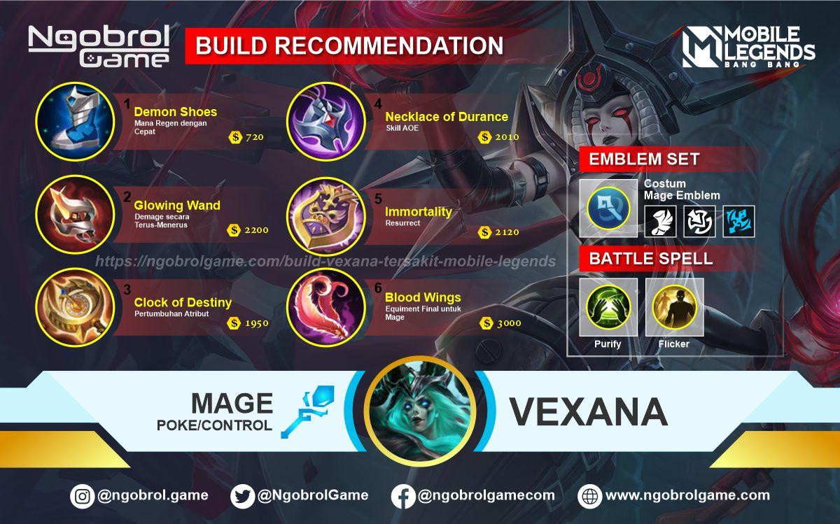 Build Vexana Tersakit 2021 Mobile Legends
