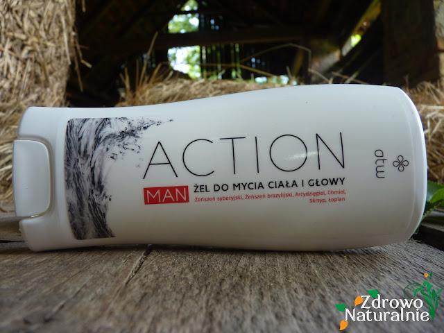 ATW BeautyLab - Action Man - Żel do mycia ciała i głowy z żeńszeniem, arcydzięglem, chmielem oraz łopianem