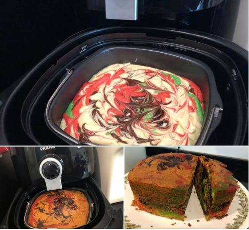 Resepi kek mudah guna air fryer