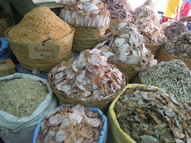 Dried seafood in Taboan Market in Cebu City