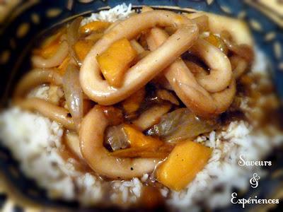 Saveurs et exp riences calamar en sauce la mauricienne - Cuisine mauricienne chinoise ...
