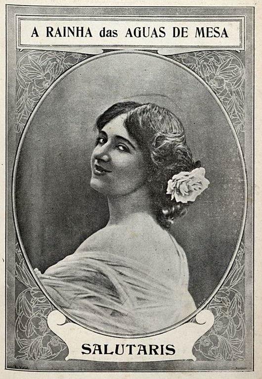 Propaganda antiga da Água Salutaris veiculada em 1907