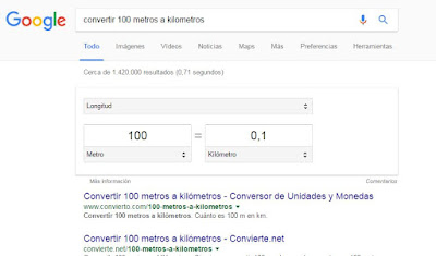 conversor de unidades google