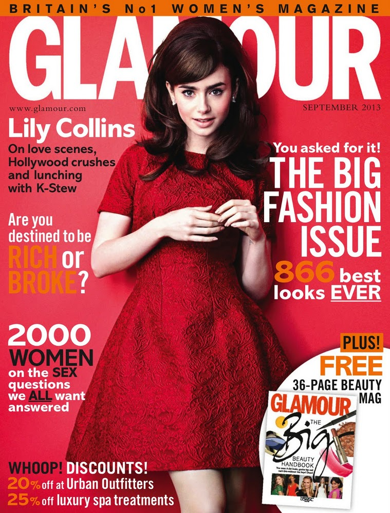 lily collins glamour UK cover