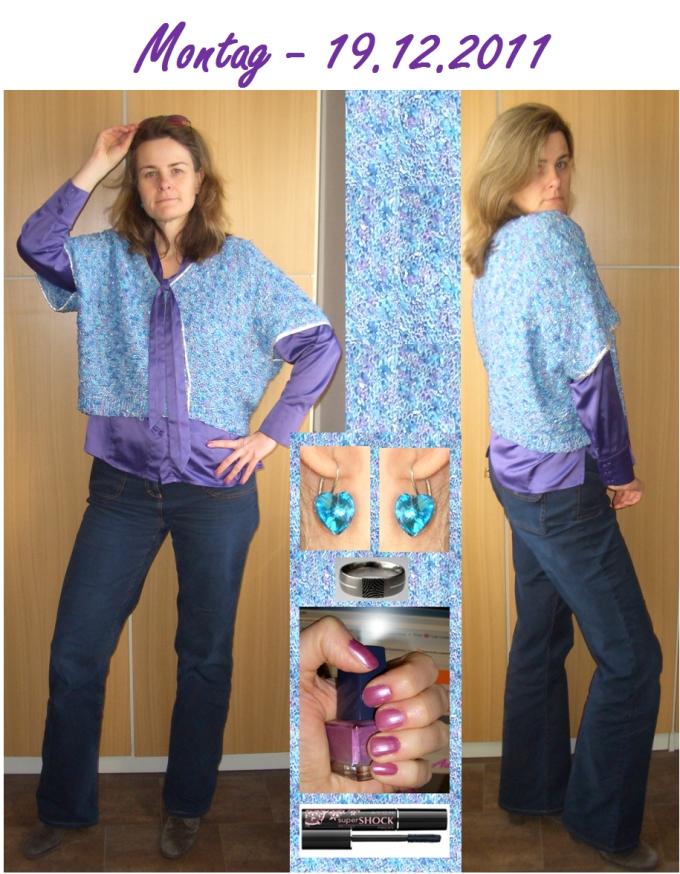 Damen Edel schimmernder Pullover mit Schößchen mattsilber