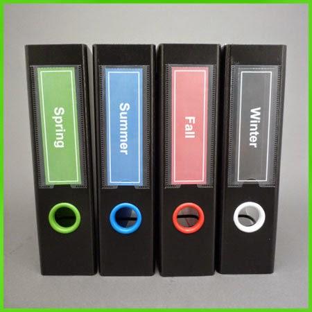 Keepfiling Solid Color Design Spine Label