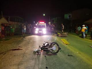 Próximo a Cuité, acidente entre motos na BR 104, deixa um gravemente ferido