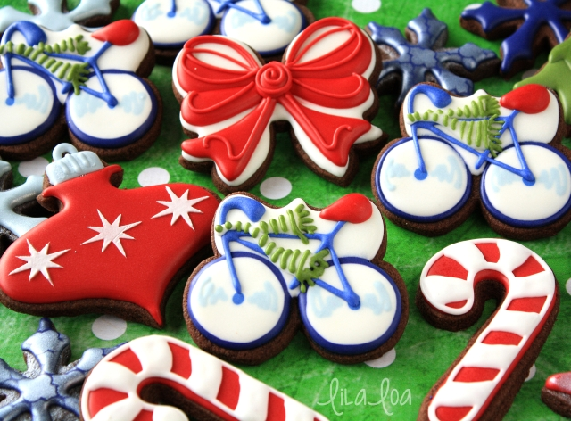 Cookie Decorating tutorial -- bicycle