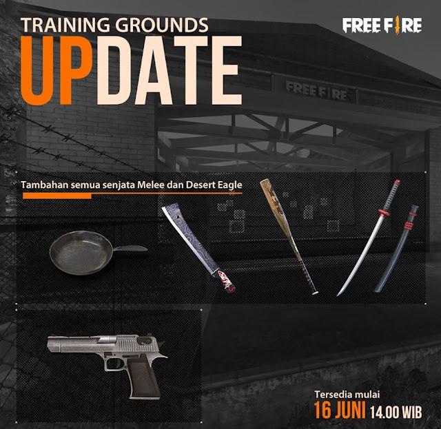 Free Fire Update Training Room Senjata Melee Bakal Ada dalam Kotak Lootan