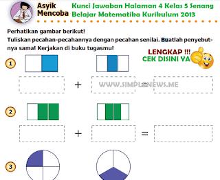 Kunci Jawaban Halaman 4 Kelas 5 Senang Belajar Matematika Kurikulum 2013 www.simplenews.me