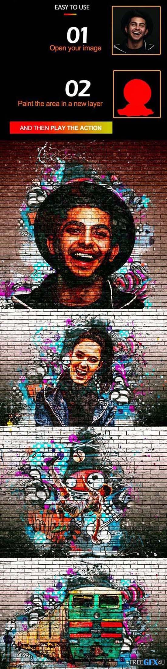 Graffiti Effect Photoshop Action