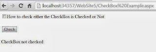 How to check either the CheckBox is Checked or Not