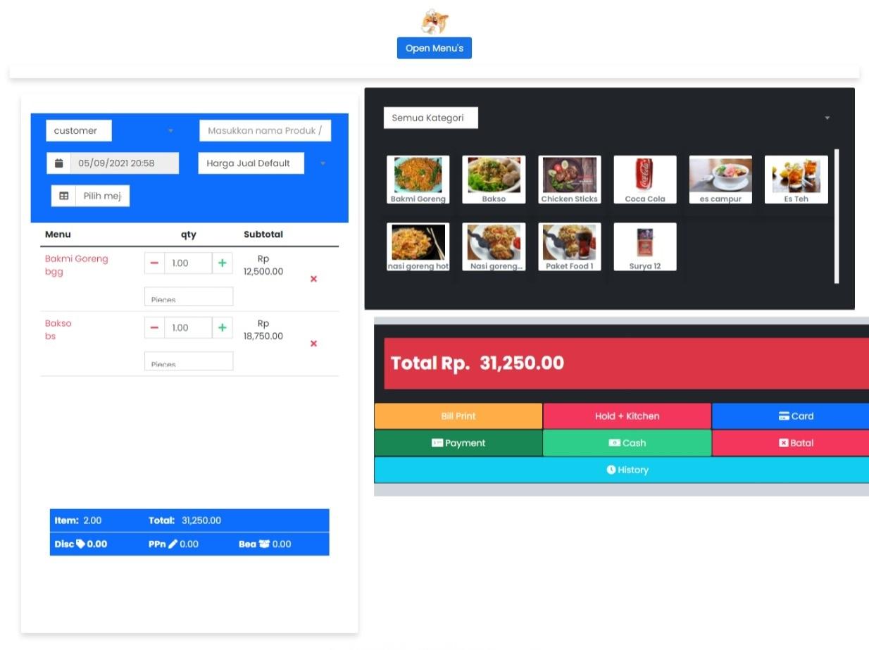 aplikasi restoran cafe , website resto cafe terbaru