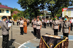 Kapolres Pimpin Langsung Upacara Pelantikan dan Sertijab di Lingkup Polres Pangkep