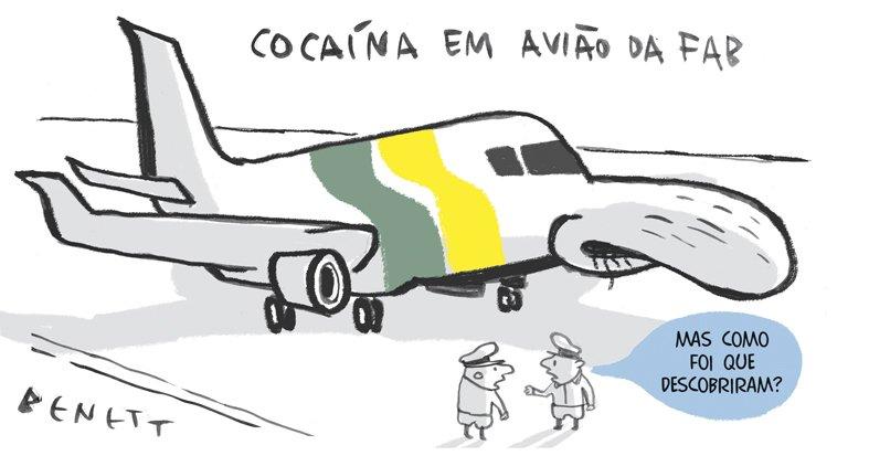 Blog de Geografia: Charge do Benett: cocaina em avião da FAB