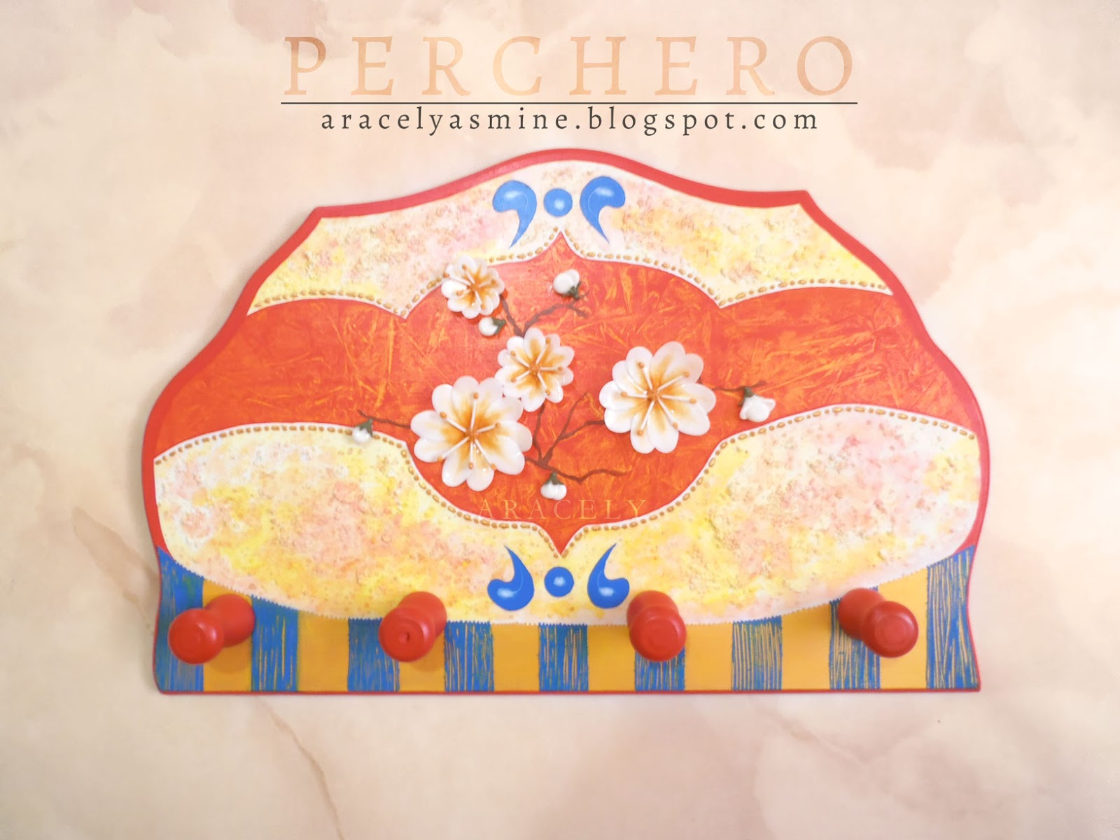 perchero trupan pintura decorativa porcelana fria