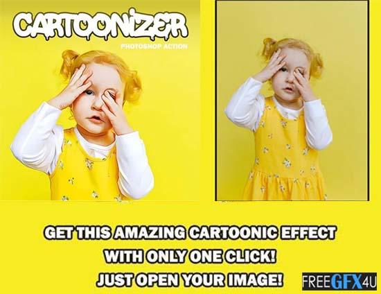 Cartoonizer Photoshop Action And Photo Effects