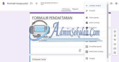 Cara Membuat Formulir Pendaftaran sekolah online