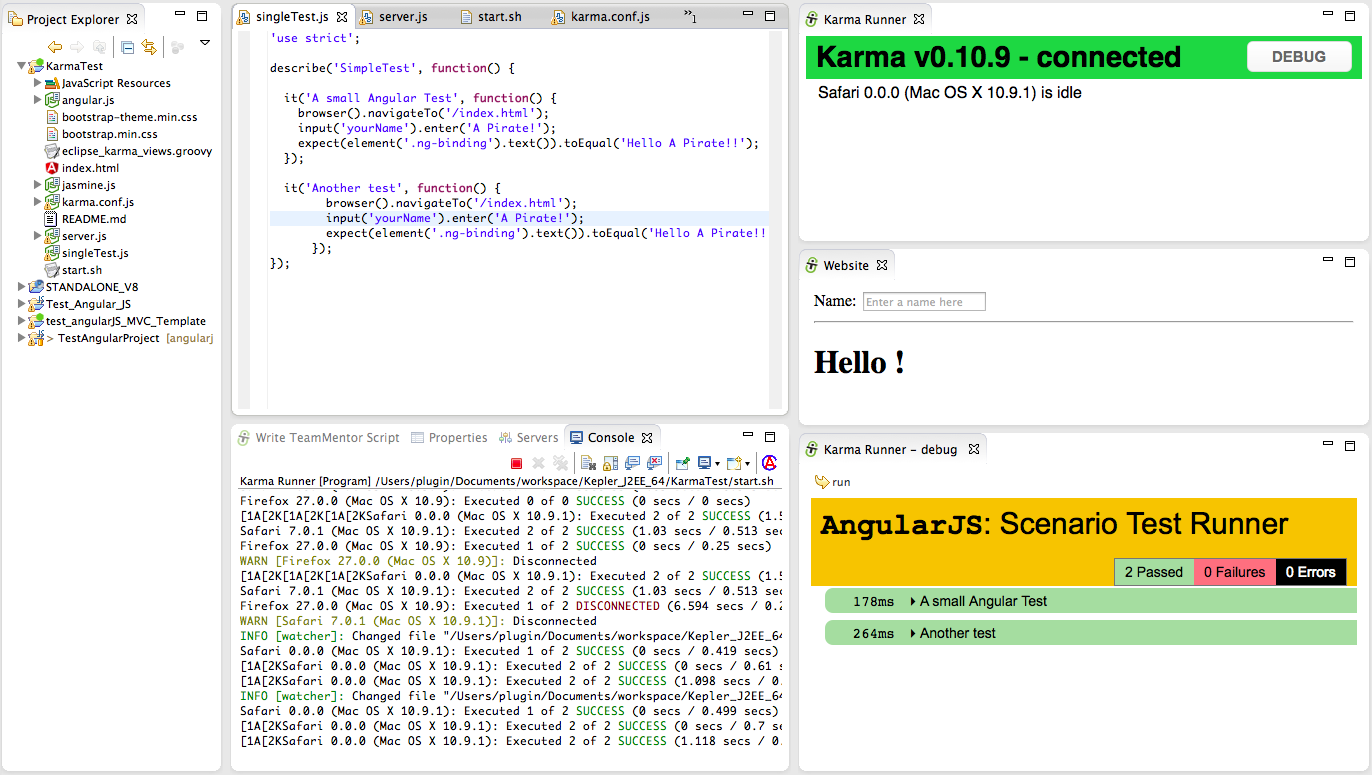 Dinis Cruz Blog: Creating an Eclipse UI to run AngularJS e2e tests