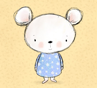 Cute mouse illustration