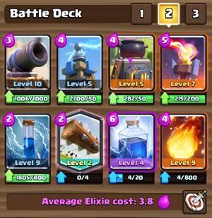 Battle Deck Clash Royale 2