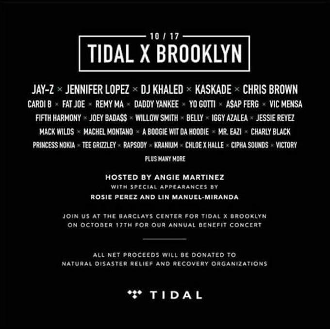 Mr. Eazi joins Jay -Z, Dj Khaled, Cardi B, Others on Tidal X Brooklyn stage, Oct 17