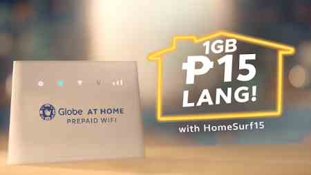 Globe HomeSurf15 : 1GB Data Add-on for Prepaid Home WiFi, for only 15 Pesos