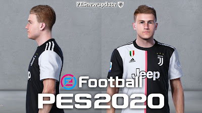 PES 2020 Faces Matthijs de Ligt by SR
