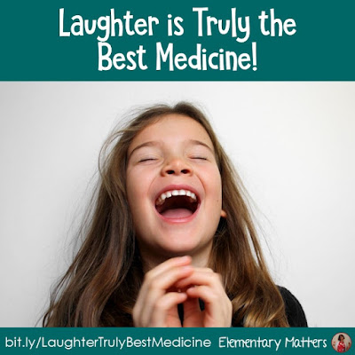 Laughter is truly the best medicine: This post contains evidence that laughter is healthy AND helps learning happen! Plus, there are a few suggestions on squeezing a few laughs into the classroom.