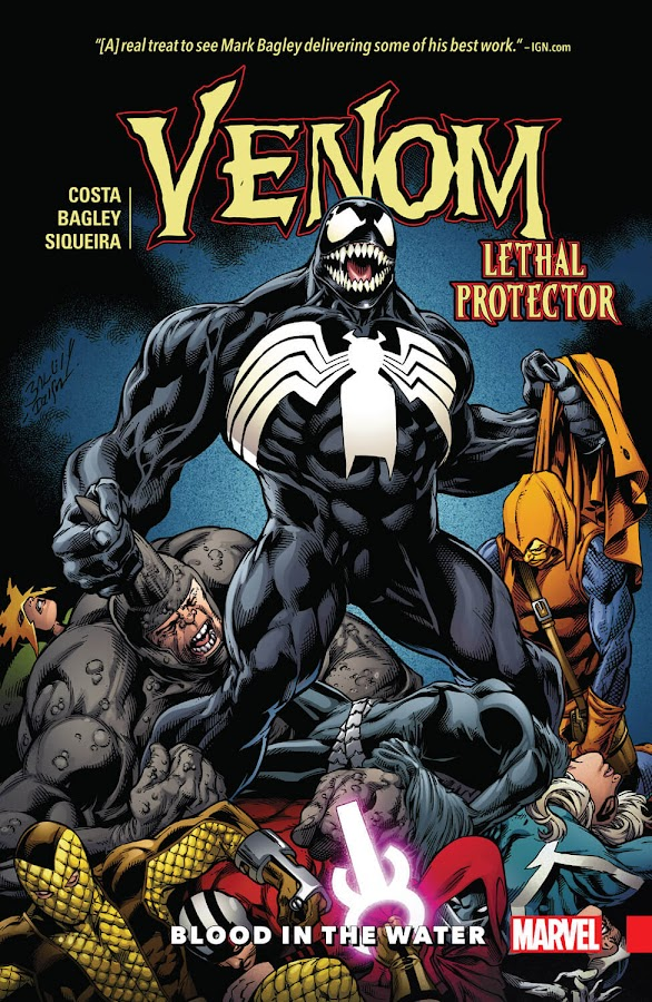 venom blood in the water marvel comics 2018 eddie brock kraven the hunter sergei kravinoff mike costa mark bagley paulo siqueira