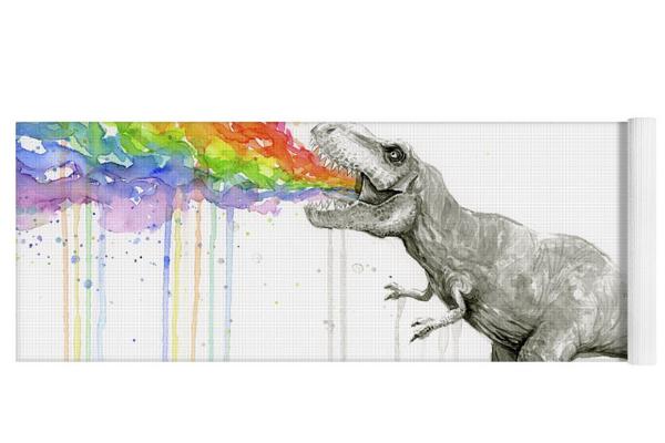 dinosaur t rex yoga mat