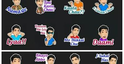 Nepali stickers in Hike messenger