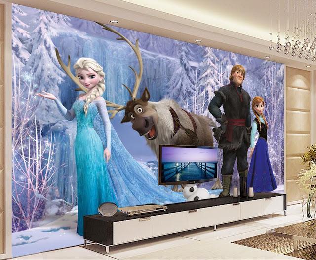 Tapetti Lastenhuoneeseen valokuvatapetti lapsia Disney Frozen