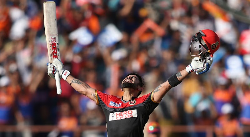 5th IPL TON FOR VIRAT KOHLI | 100 (58)
