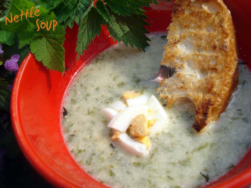 Nettle soup by Laka kuharica: Stinging nettles in easy, nutritious, and delicious spring soup.